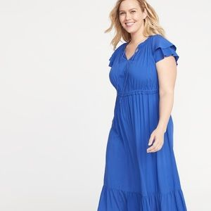 760ad0a2905 Old Navy Dresses - NWT Old Navy 2x Waist Defined Ruffle Violet Midi